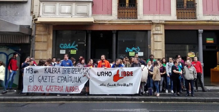 Troikaren aurkako istiluengatik inputatutako Urko Martinez gaztea absolbitu dute