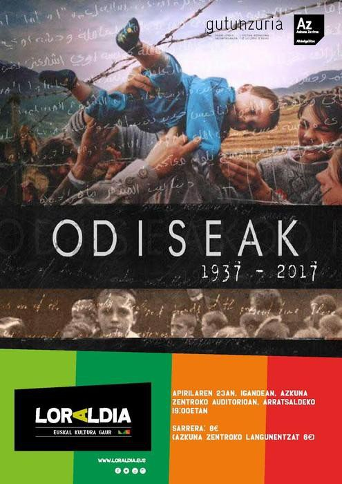 'Odiseak 1937-2017' gaurko errefuxiatuak eta 36ko gerrako haurrak gaitzat dituen lana
