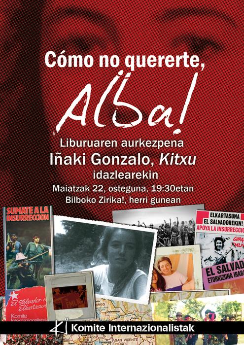'¡Cómo no quererte, Alba!' liburua aurkeztuko du 'Kitxu'-k Zirikan