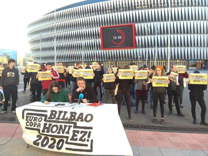 Eurocopa honi ez! kolektiboak manifestazio nazionala deitu du Bilbon