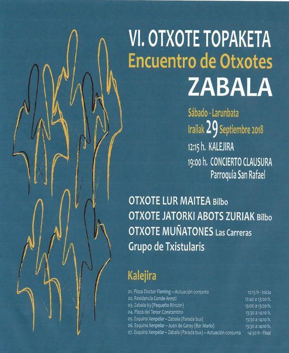 Zabala auzoak Otxoteen Topaketaren VI. edizioa bihar ospatuko du