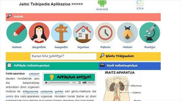 """""""Txikipedia"""", haur eta gazteei zuzendutako Euskarazko Wikipedia"""