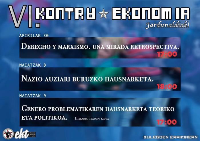 Badatoz VI. Kontraekonomia jardunaldiak