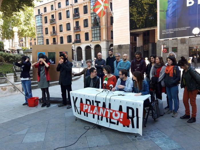 'Euskal Herriak Kapitalari Planto' plataforma aurkeztu dute