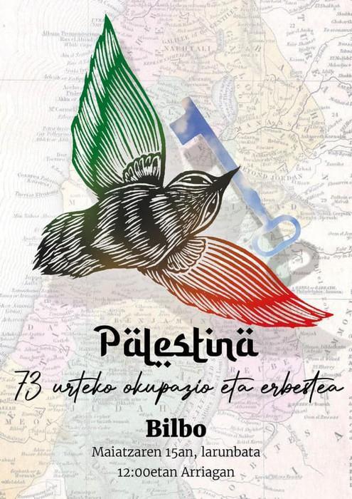 Palestinarekin Elkartasun mobilizazioa deitu dute bihar palestinarrek bizi duten egoera salatzeko