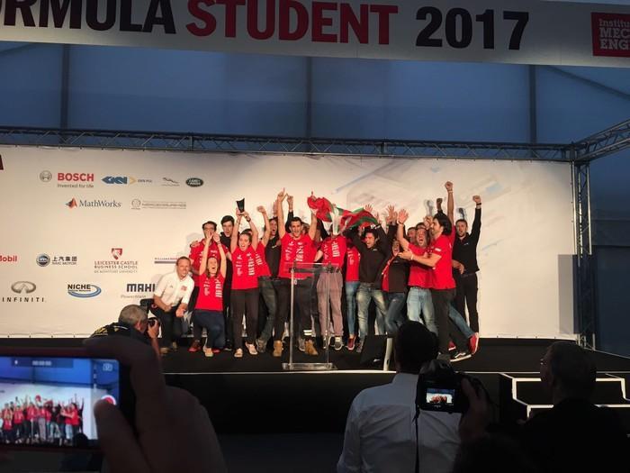 Formula Student Bizkaia taldeko monoplazak 4 sari irabazi ditu Silverestoneko txapelketan