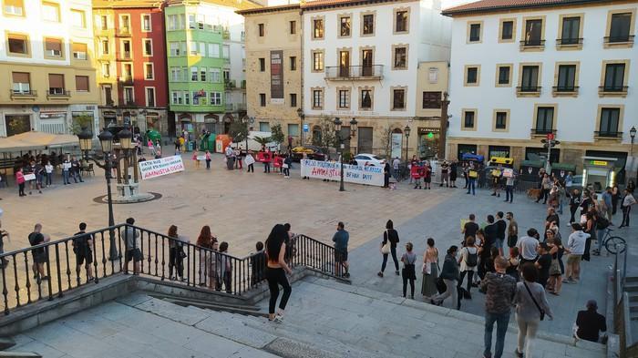 Mobilizazioak Bilbon Patxi Ruiz presoari elkartasuna adierazteko