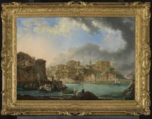 Bilboko Arte Ederren Museoak Luis Paret y Alcazar Artistearen 'Bermeoko Bista' (1783) obrea aurkeztu dau