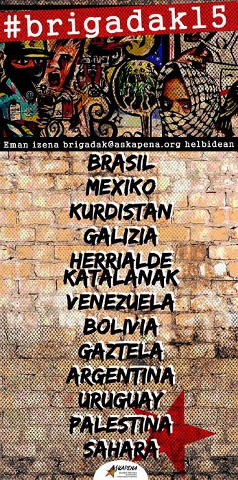Internazionalistak garelako #brigadak15
