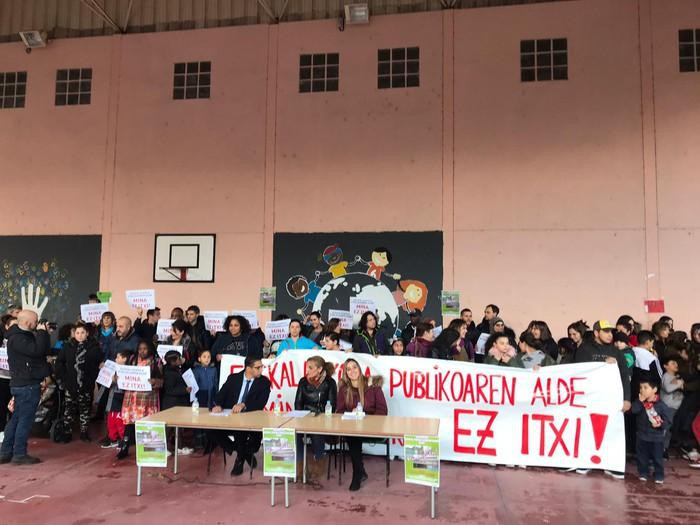 'Mina ez itxi!' lelopean manifestazioa egingo dute ostiralean Santutxun