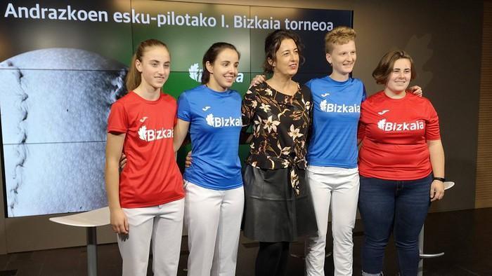 Larunbatean Emakumeen Esku-pilotako I. Bizkaia Txapelketako finala jokatuko da Bizkaia frontoian