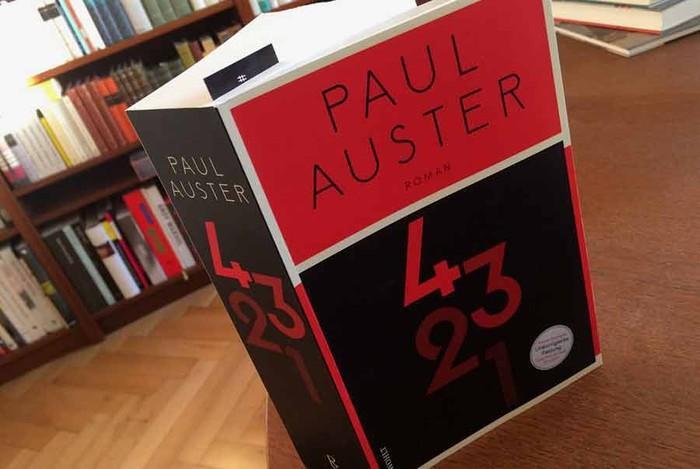 Paul Austerrek '4 3 2 1' eleberria aurkeztuko du asteazkenean Alondegian