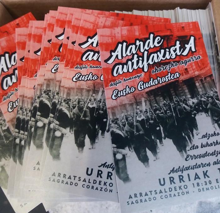 """Alardea """"erresistentzia antifaxistaren alde"""""""