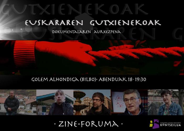 'Euskararen Gutxienekoak' dokumentala ikusi eta eztabaidatzeko hitzordua