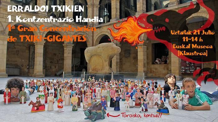 Euskal Museoa Erraldoi Txikien I. Kontzentrazio Handiaren topalekua izango da gaur
