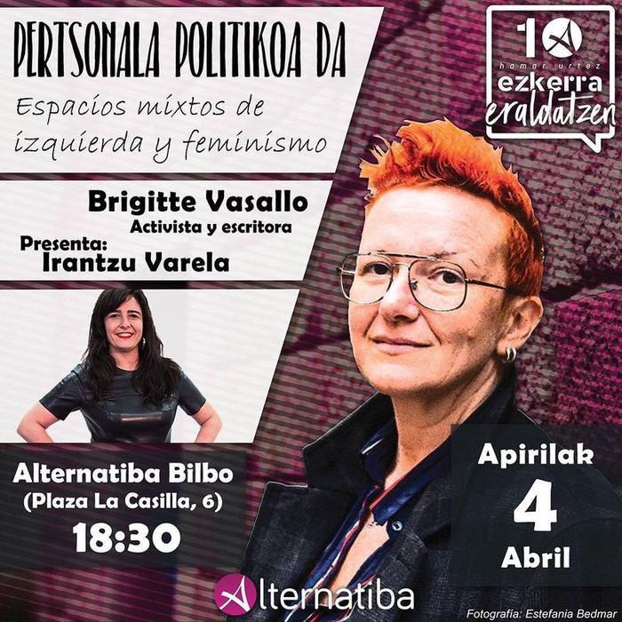 Alternatibak espazio mistoetako militantzia feminista aztertuko du Brigitte Vasallo eta Irantzu Varelaren eskutik