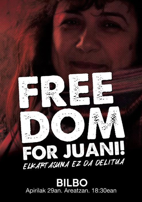 Elkarretaratzea deitu dute gaur Israelen atxilotutako Juana Ruiz Sanchezen askatasuna aldarrikatzeko