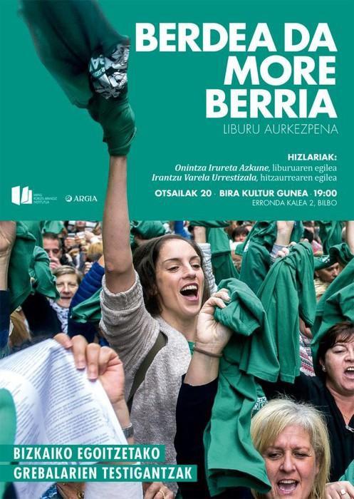 """""""Berdea da more berria"""" liburua aurkeztuko du ARGIAk otsailaren 20an"""