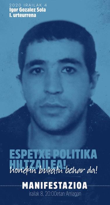 Igor Gonzalez Solaren heriotzaren 1. urteurrenean irrati saioa egin du Etxebarrieta Memoria Elkarteak
