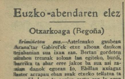 Begoñako euskal kazetaritzak ehun urte (II): Sagu-zarren kronikak