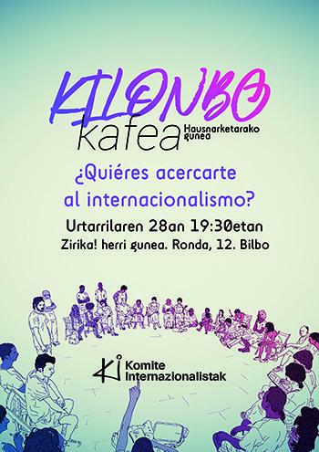 'Kilonbo kafea' abian Komite Internazionalistak-en eskutik