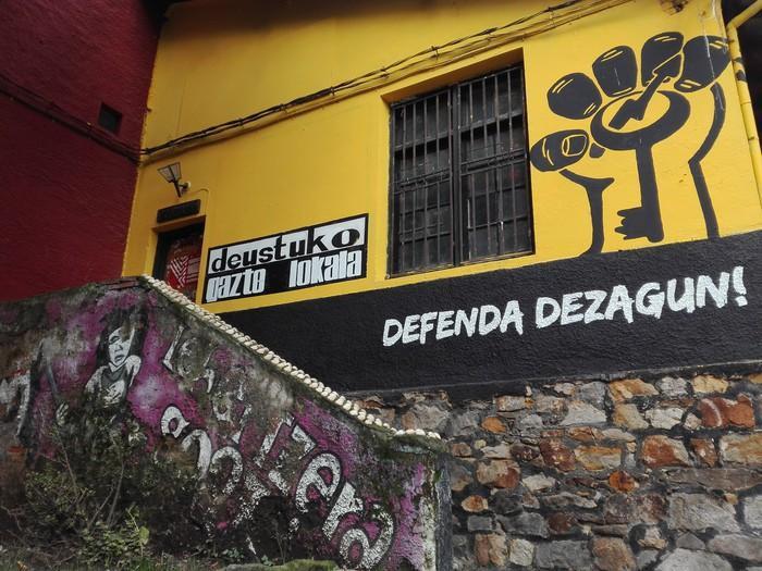 Grafiti lehiaketa antolatu du Deustuko Gazte Lokalak